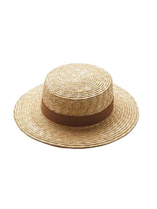 Boater Hat - Tan Tie in Both Adult & Kids Sizes - Coco & Me - Children's swimwear - Australian swimwear - sun safe - UPF 50+ - Australian kids swimwear