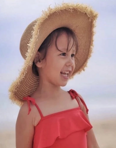 Red Tie One Piece - Coco & Me - Children's swimwear - Australian swimwear - sun safe - UPF 50+ - Australian kids swimwear