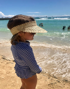 Kids Palm Visor - Natural - Coco & Me - Children's swimwear - Australian swimwear - sun safe - UPF 50+ - Australian kids swimwear