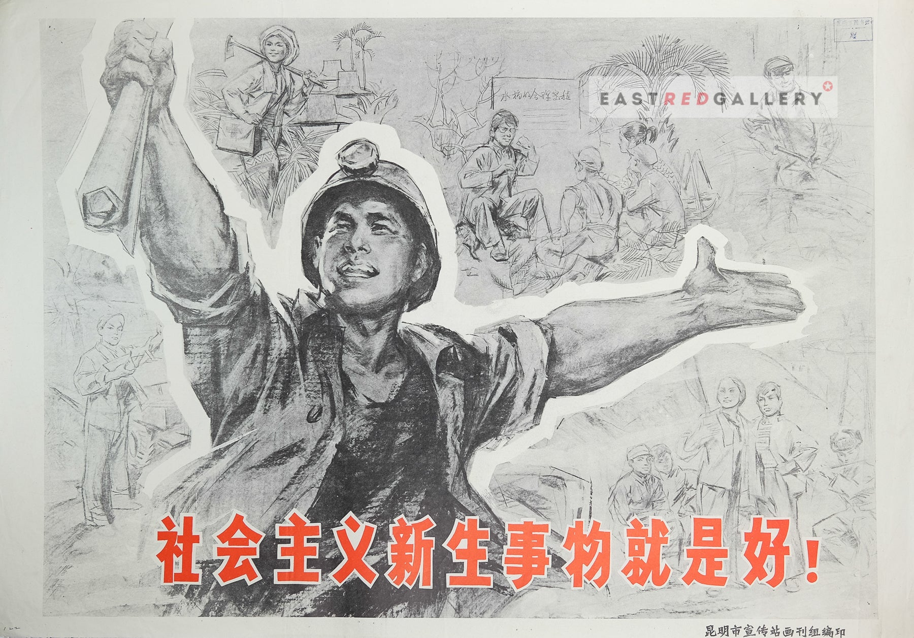 image of 1976 Chinese propaganda poster The new things in socialism are good!