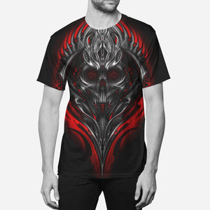 Tribal Skull Crew Tee (Red)