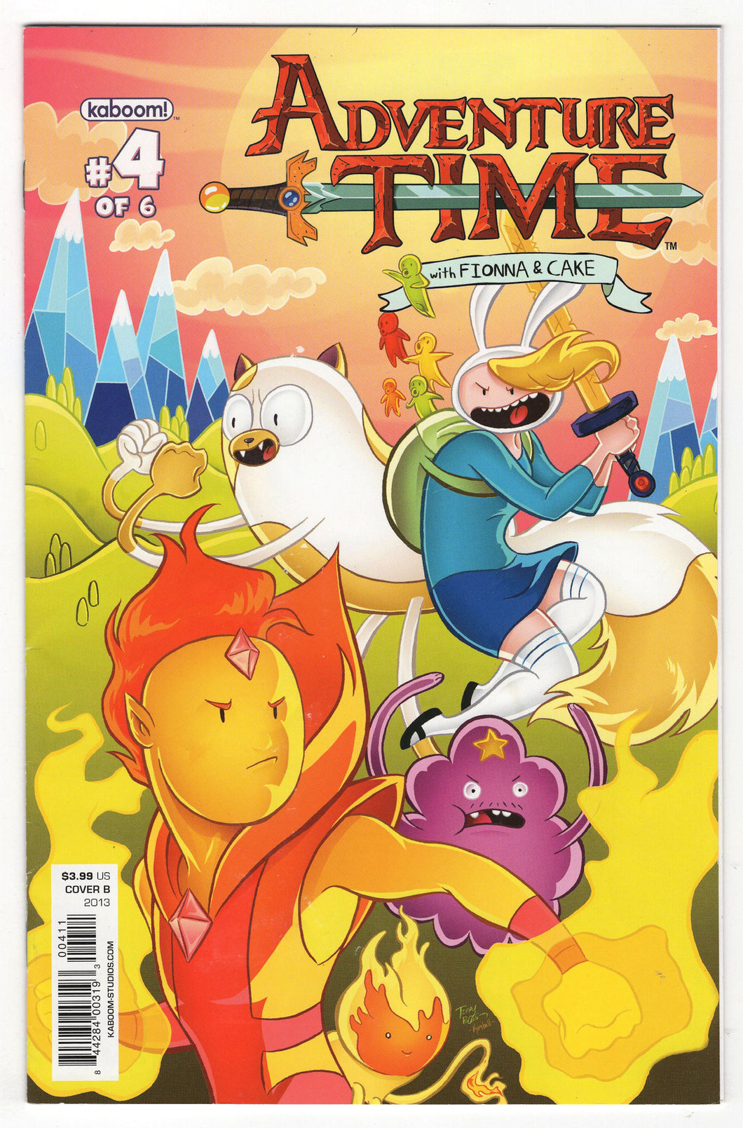 Adventure Time Fionna & Cake #4 Variant Front Cover