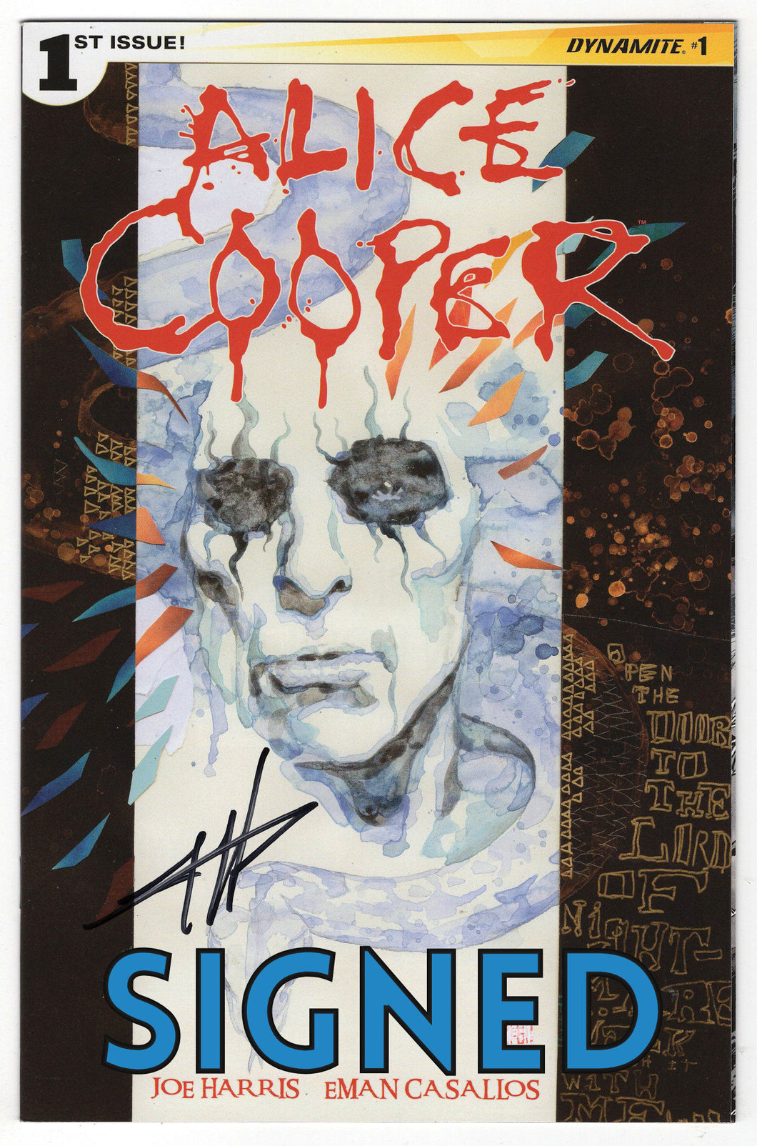 Alice Cooper #1 Regular Cover Signed Front