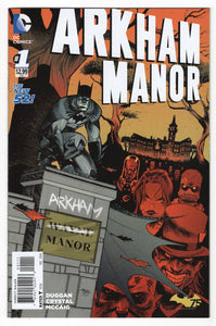 Arkham Manor #1 Shawn Crystal Cover Front