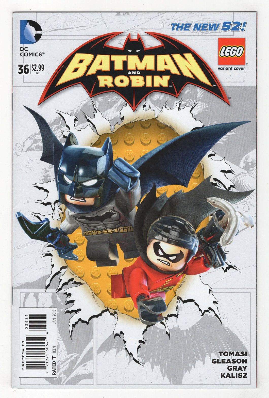 Batman and Robin #36 Lego Variant Cover Front