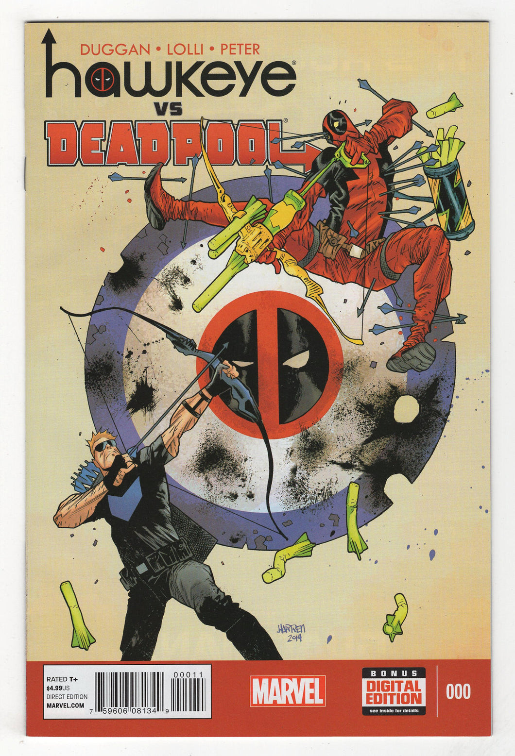 Hawkeye Vs Deadpool #0 Cover Front