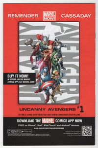 Avengers Vs X-Men #12 2012 NYCC Exclusive Ryan Stegman Variant Cover Back