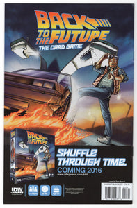 Back to the Future #1 Drew Rausch Fried Pie Variant Cover Back
