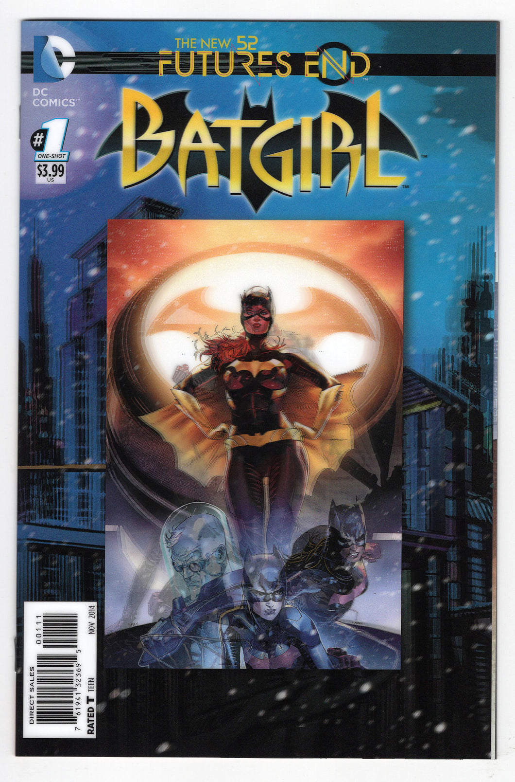 Batgirl Future's End #1 Clay Mann 3D Motion Lenticular Cover (2014) Front