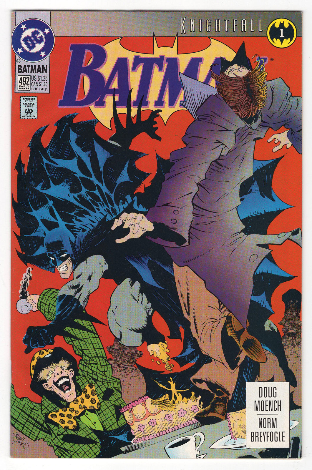 Batman #492 Regular Kelley Jones Cover (1993) Front