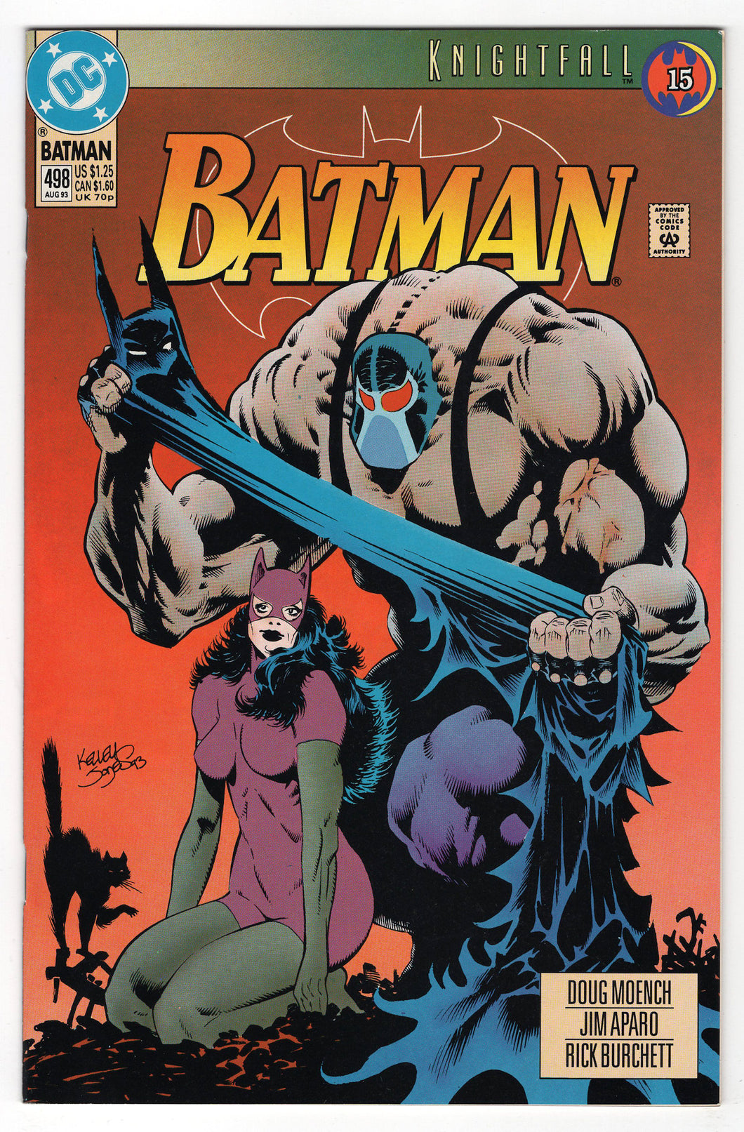 Batman #498 Regular Kelley Jones Cover (1993) Front