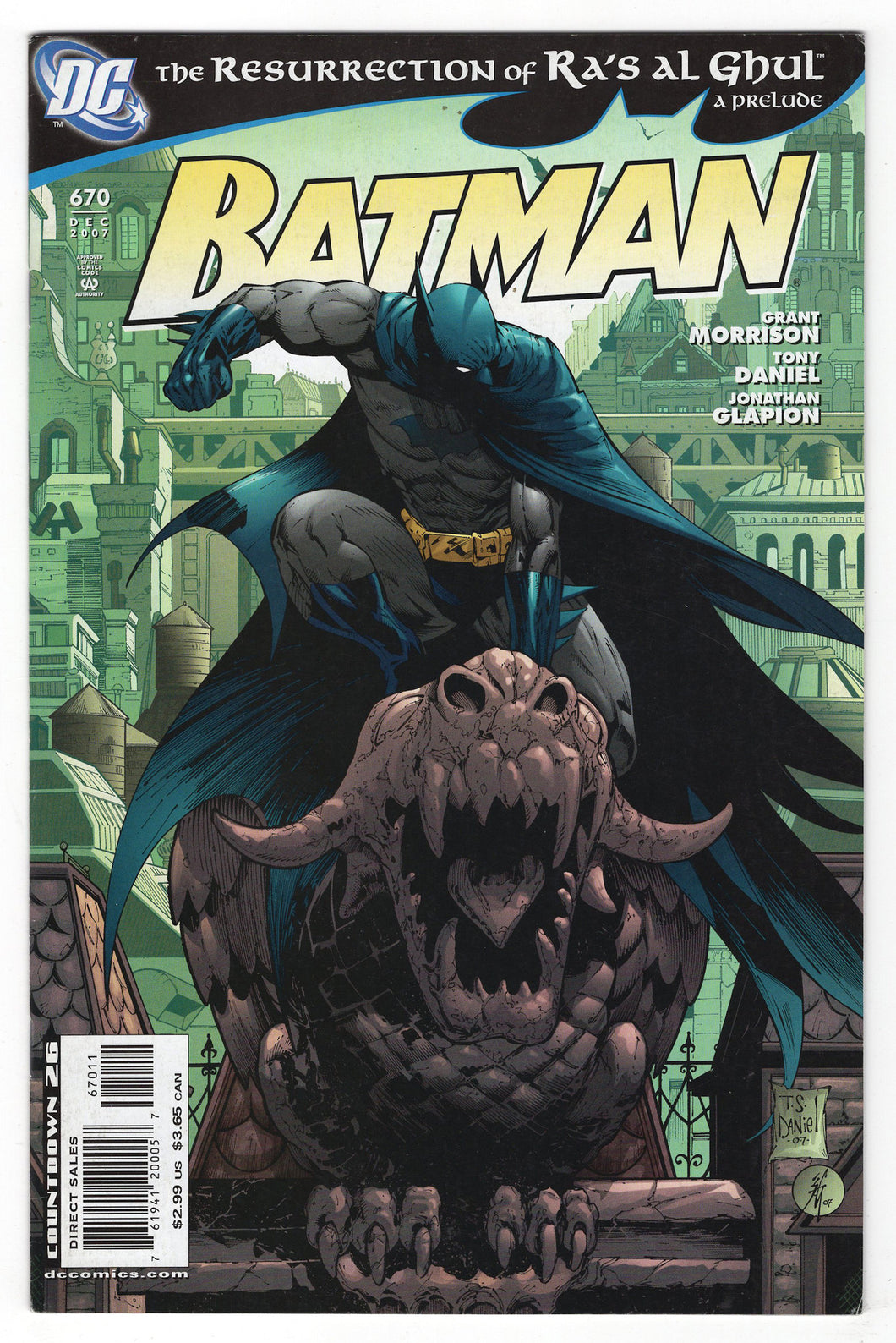Batman #670 Regular Tony S Daniel Cover (2007) Front