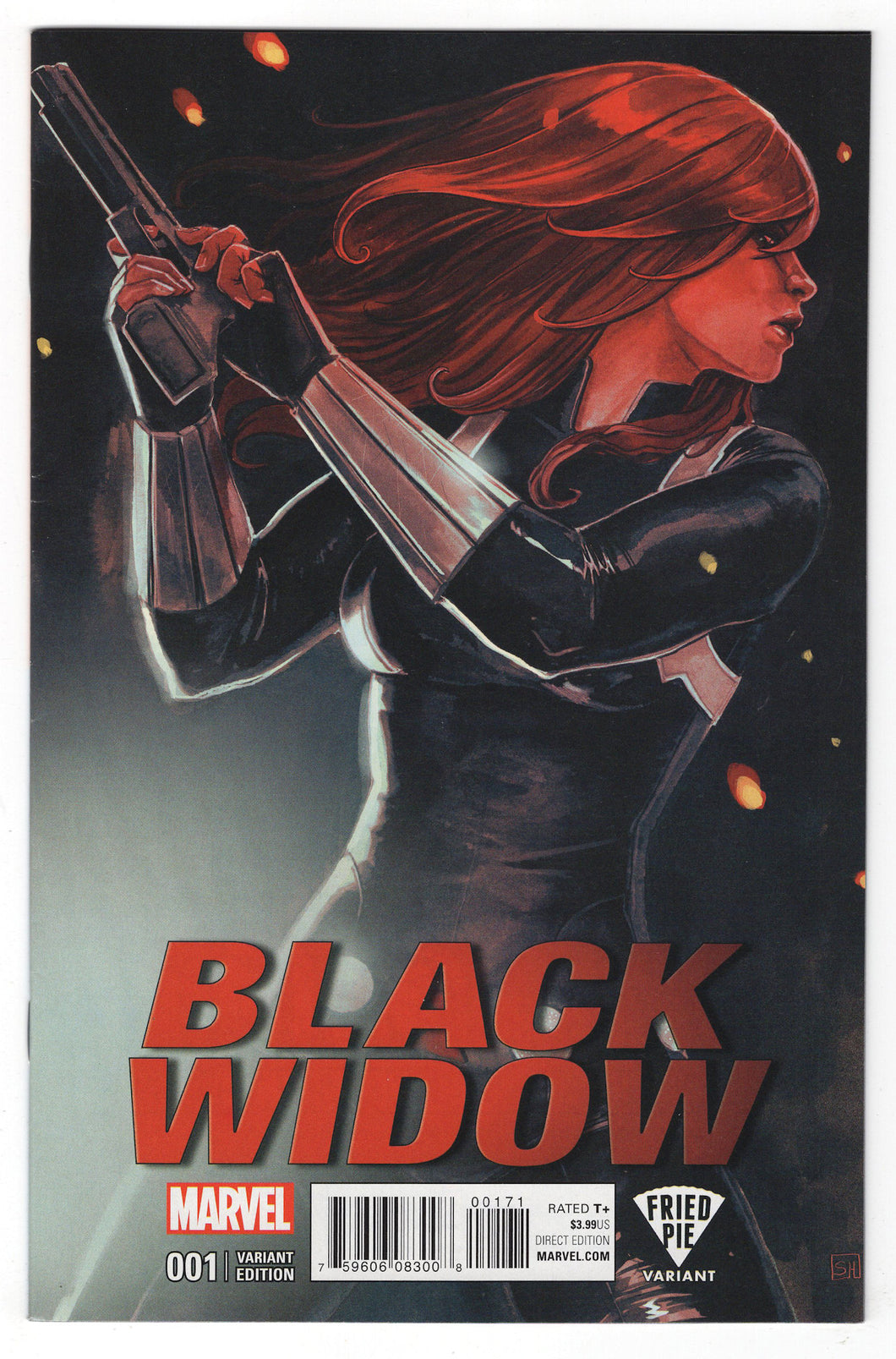 Black Widow #1 Stephanie Hans Fried Pie Variant Cover (2016) Front