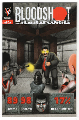 Bloodshot and H.A.R.D. Corps #15 Matthew Waite 8-Bit Variant Cover (2013) Front