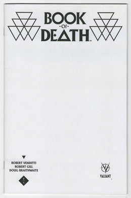 Book of Death #1 Blank Sketch Variant Cover Front