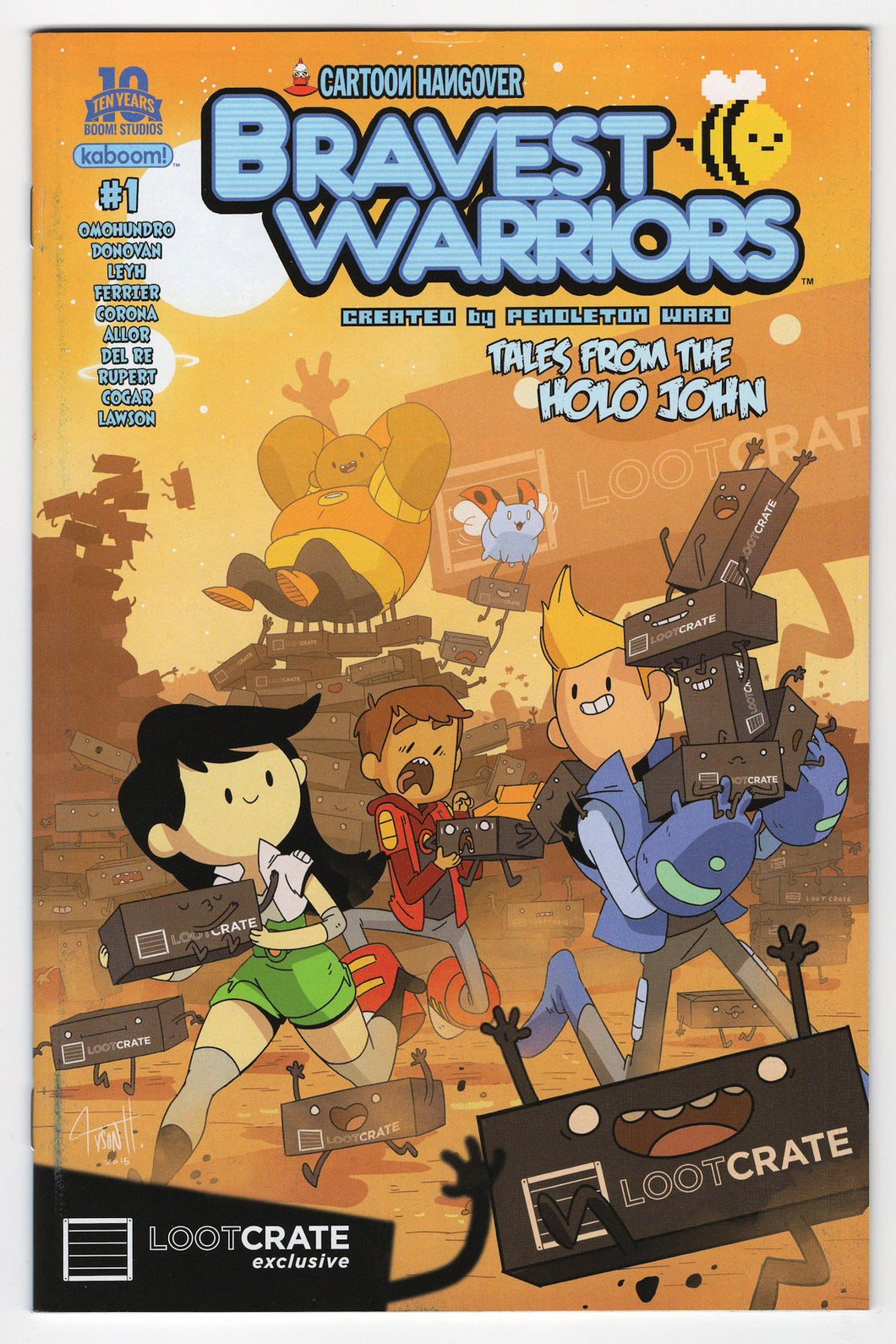 Bravest Warriors Tales From The Holo John #1 Tyson Hesse Loot Crate Variant Cover (2015) Front