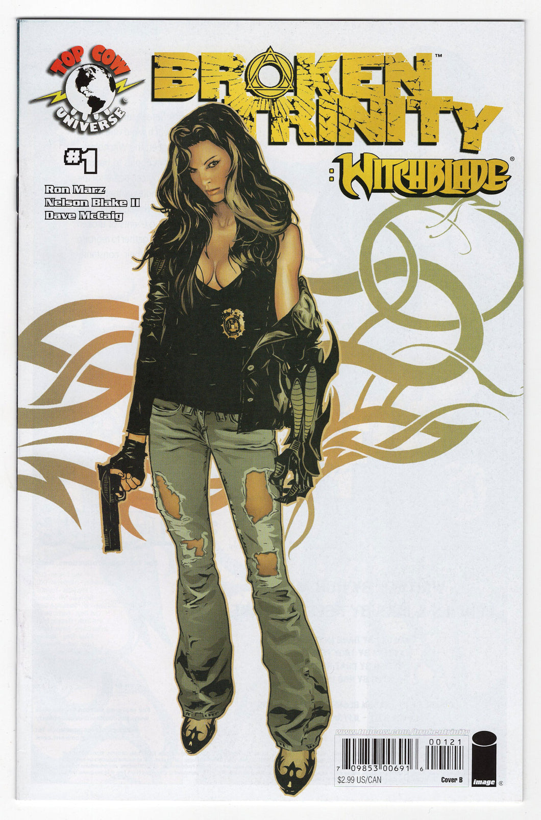Broken Trinity Witchblade Jeffrey Spokes Variant Cover (2008) Front
