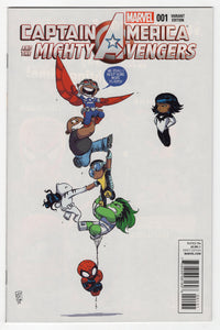 Captain America and the Mighty Avengers #1 Skottie Young Variant Cover (2014) Front