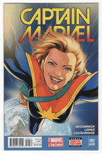 Captain Marvel #2 2nd Printing Regular David Lopez Cover (2014) Front