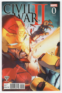 Civil War II #0 Jamal Campbell Fried Pie Variant Cover (2016) Front