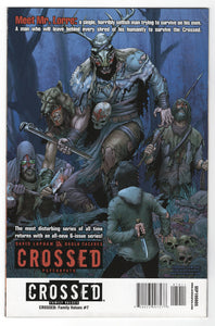 Crossed Family Values #7 Regular Jacen Burrows Cover (2011) Back