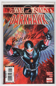 War of Kings Darkhawk #1 Regular Brandon Peterson Cover (2009) DF Limited Version Signed by Brandon Peterson Front