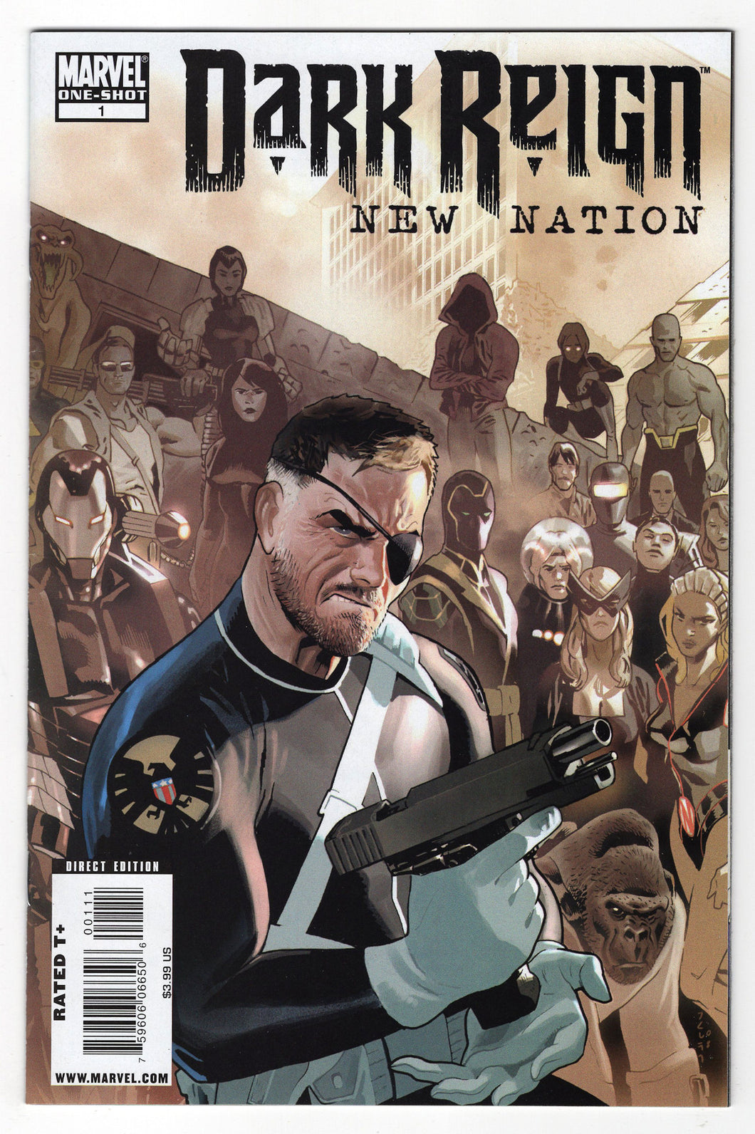 Dark Reign New Nation #1 Regular Daniel Acuna Cover (2008) Front