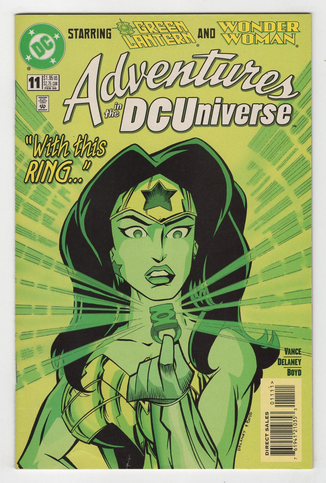 Adventures in the DC Universe #11 Cover Front