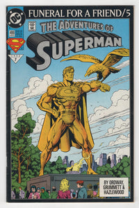 Adventures of Superman #499 Cover Front