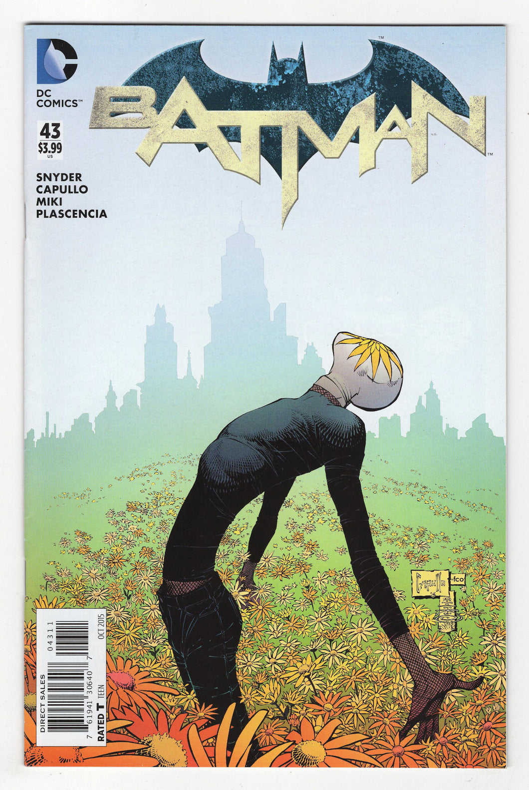 Batman #43 Regular Greg Capullo Cover (2015) Front
