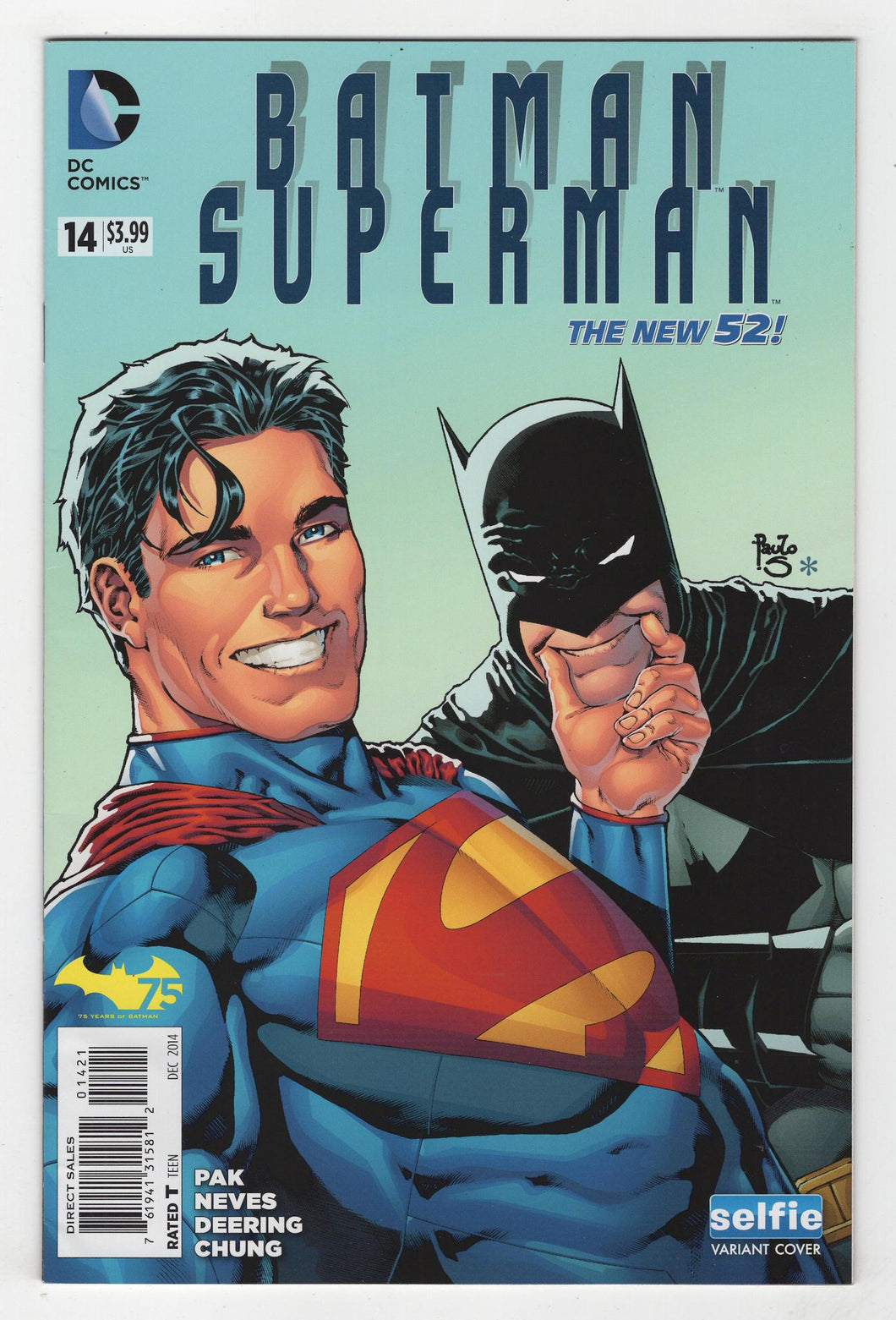 Batman Superman #14 Variant Cover Front