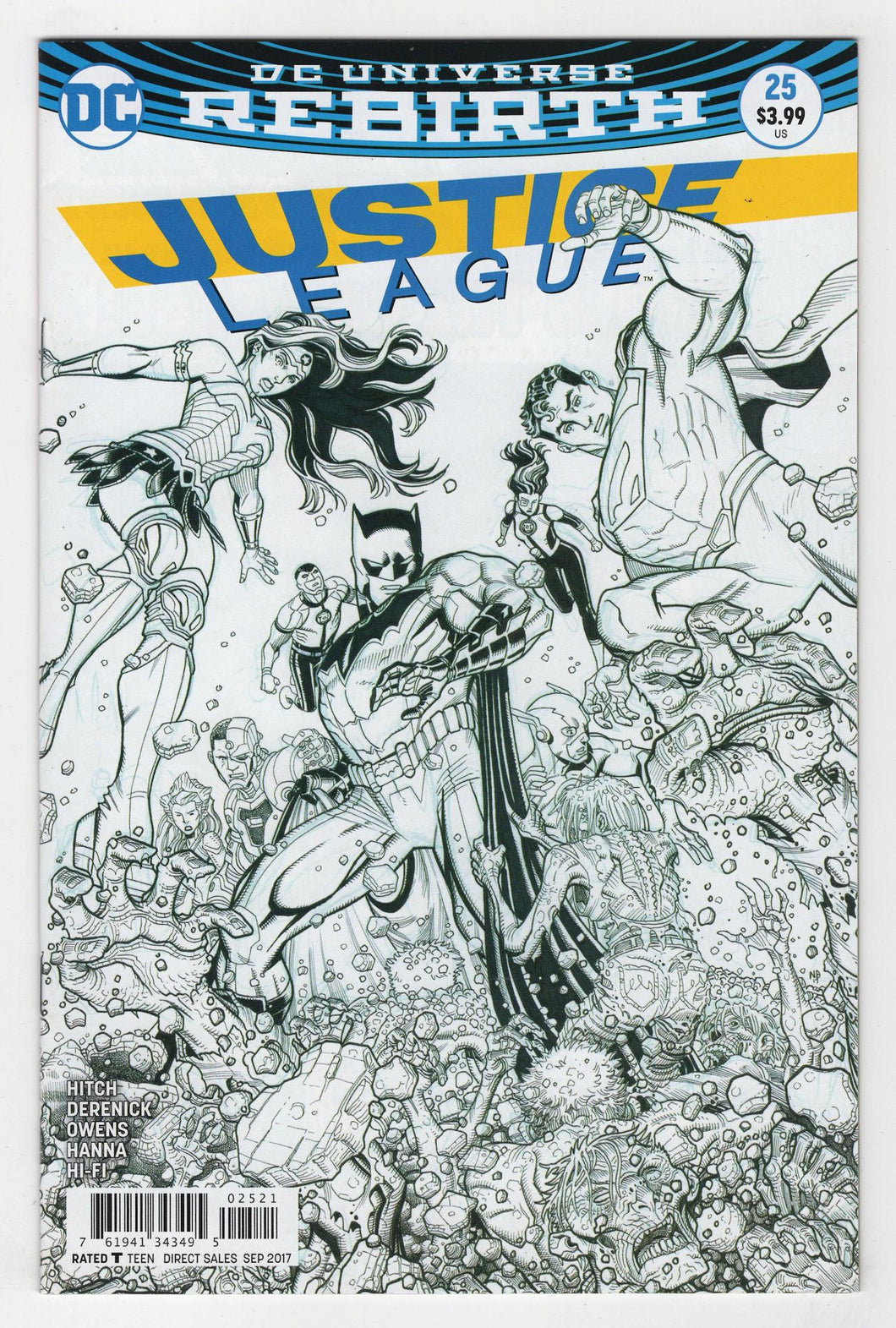 Justice League #25 Variant Cover Front