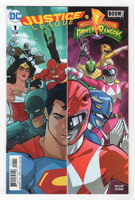 Justice League Power Rangers #1 Cover Front