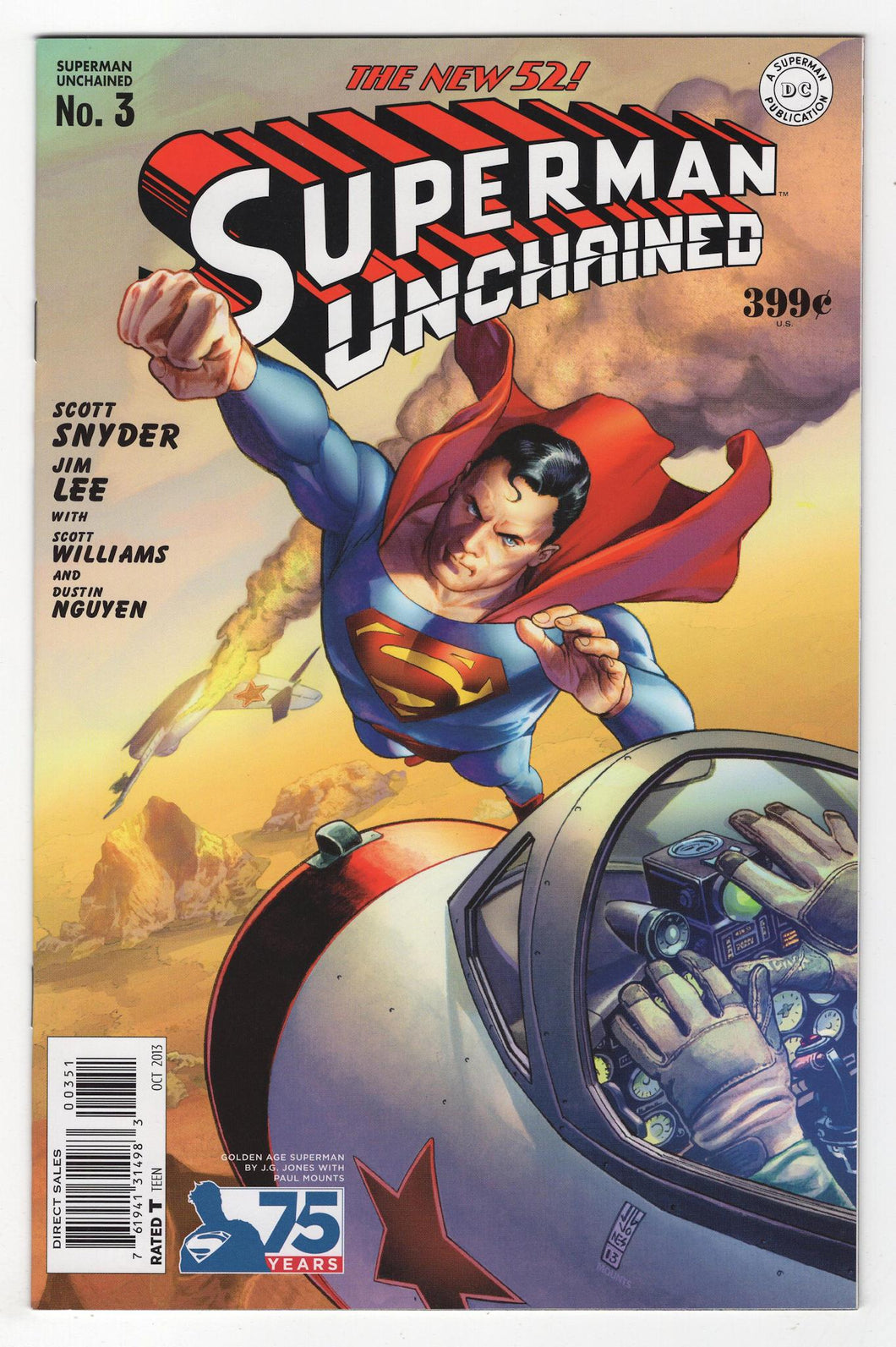 Superman Unchained #3 Variant Cover Front