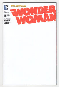 Wonder Woman #36 Blank Sketch Variant Cover (2014) Front