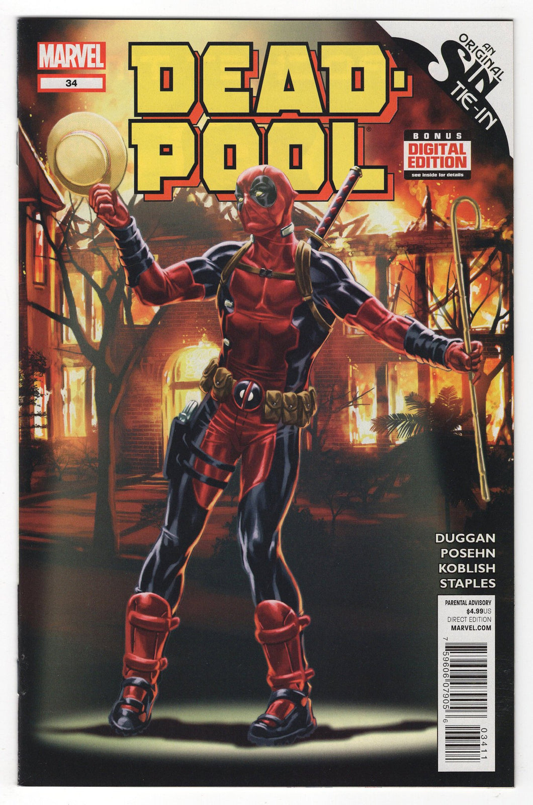 Deadpool #34 Front Cover