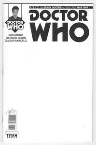 Doctor Who Tenth Doctor Year Two #1 Blank Sketch Variant Cover Front
