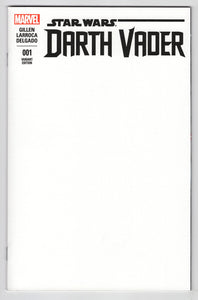Star Wars Darth Vader #1 Blank Sketch Variant Cover Front
