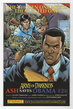 Army of Darkness Ash Saves Obama #1 Cover Back