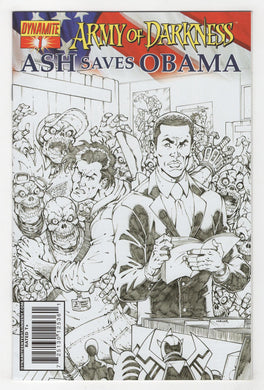 Army of Darkness Ash Saves Obama #1 Variant Cover Front