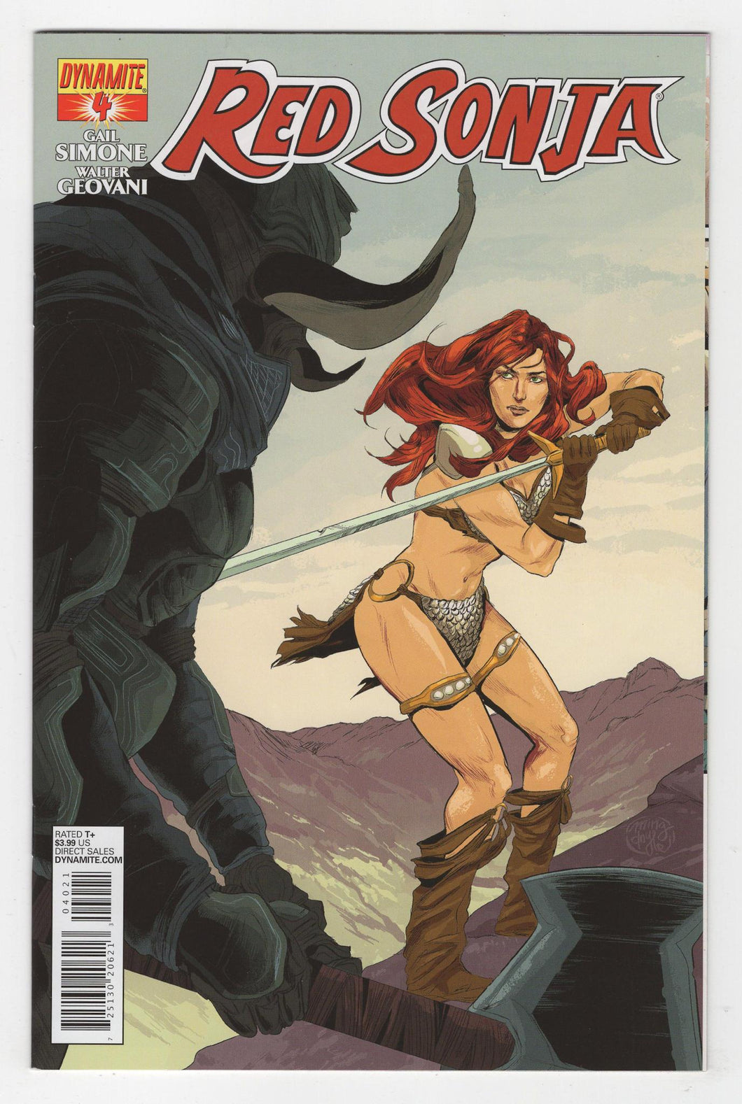 Red Sonja #4 Variant Cover Front