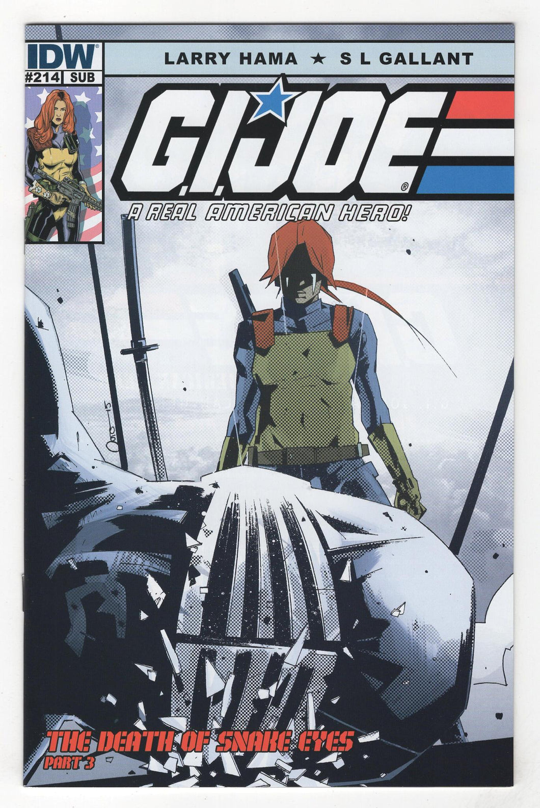 GI Joe A Real American Hero #214 Variant Cover Front