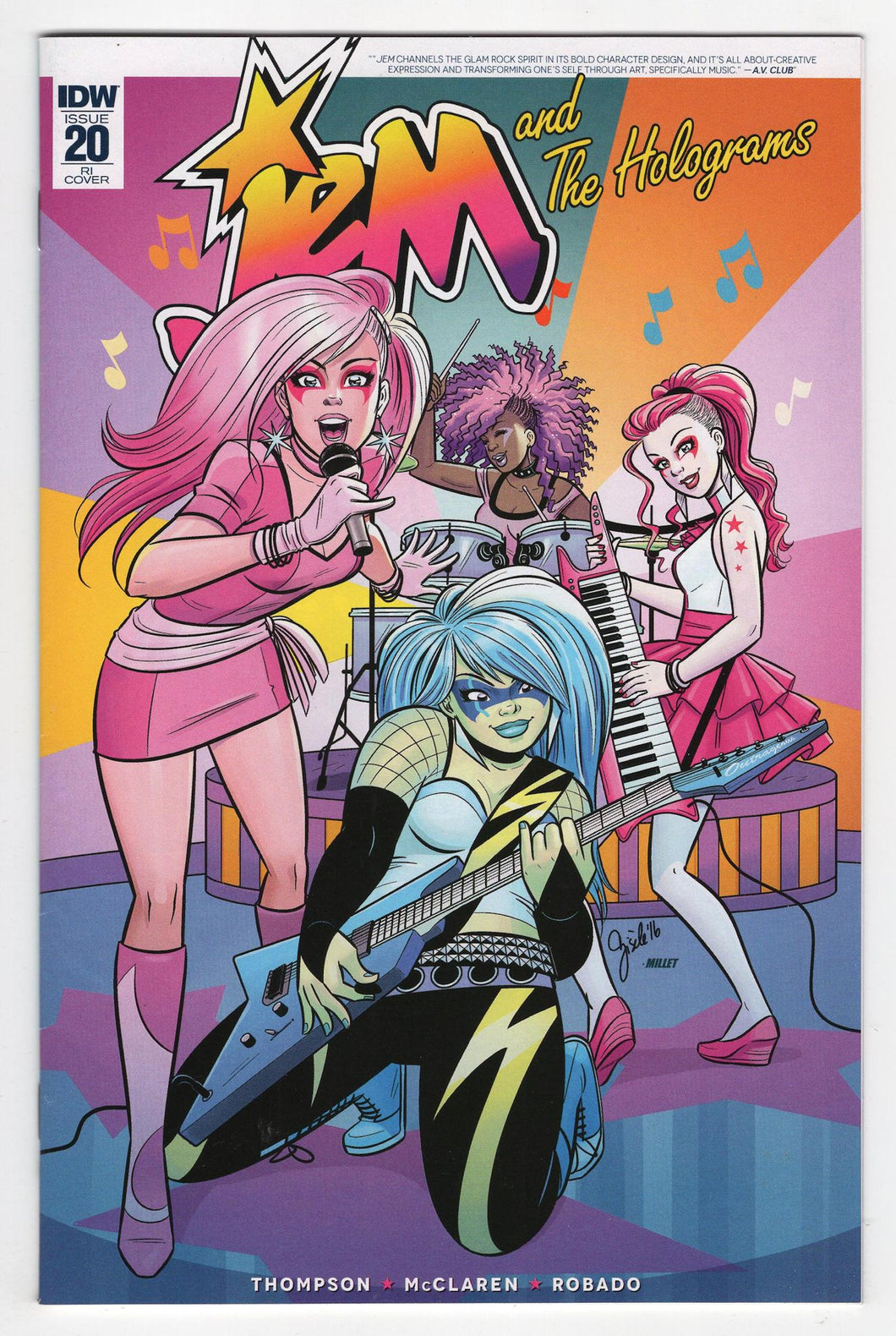 Jem and the Holograms #20 Variant Cover Front