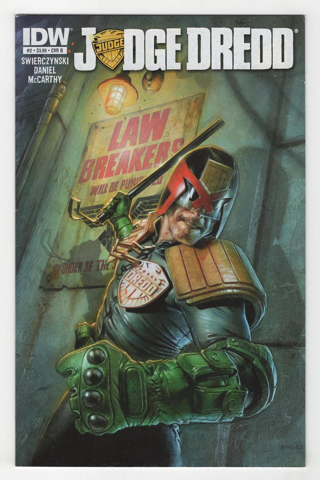 Judge Dredd #2 Variant Cover Front