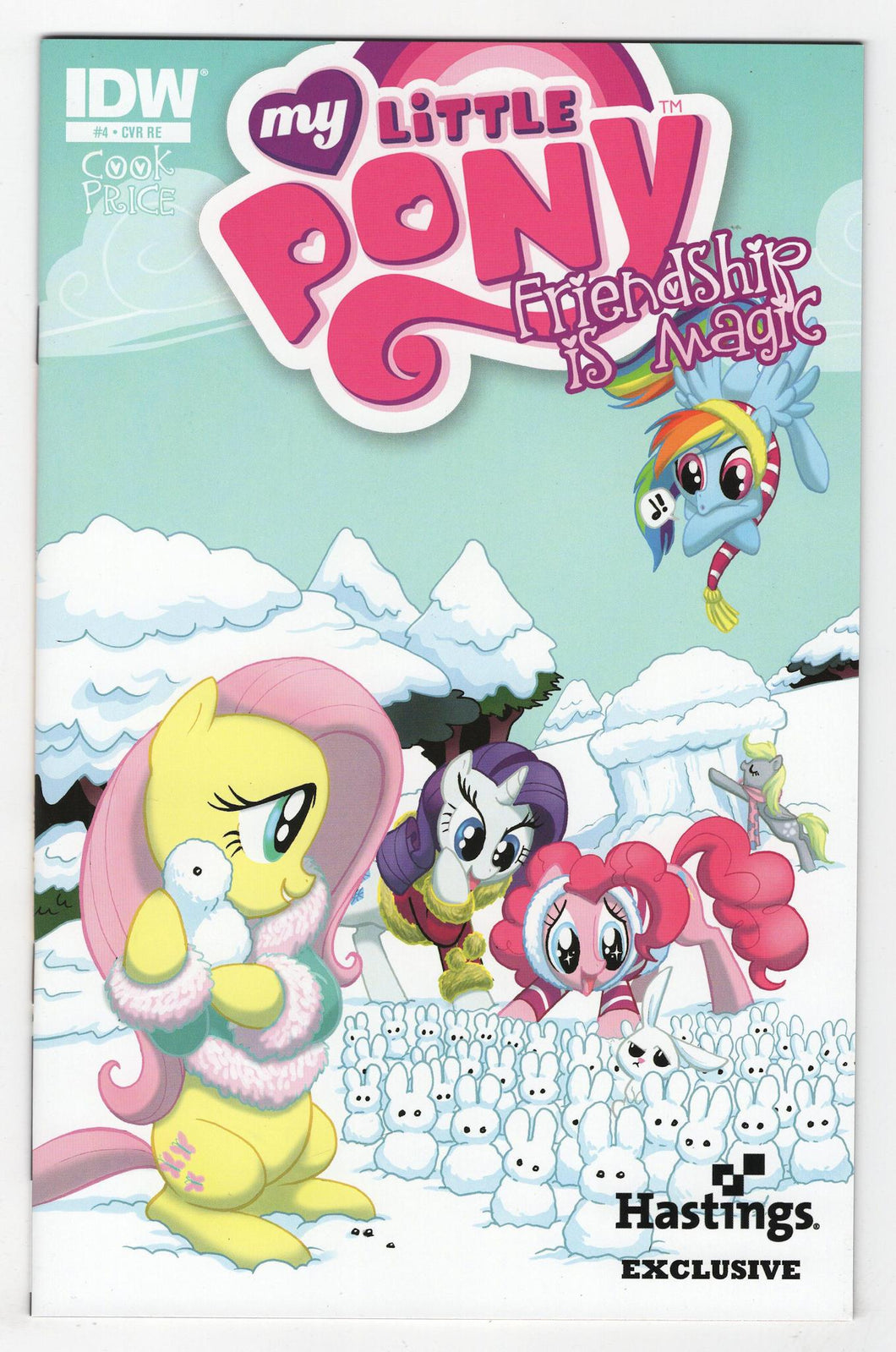 My Little Pony Friendship is Magic #4 Hastings Variant Cover Front