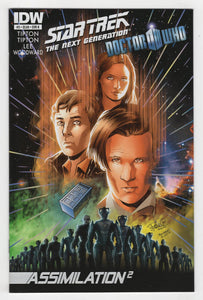 Star Trek the Next Generation Doctor Who Assimilation Squared #3 Variant Cover Front