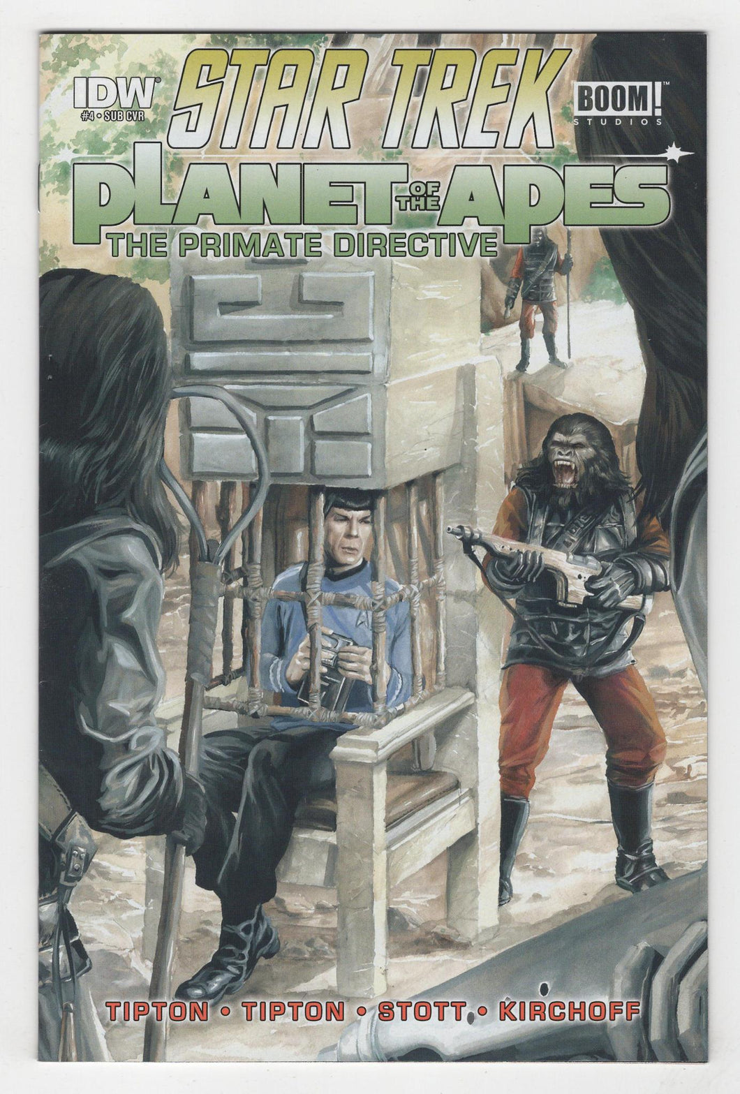 Star Trek Planet of the Apes the Prime Directive #4 Variant Cover Front