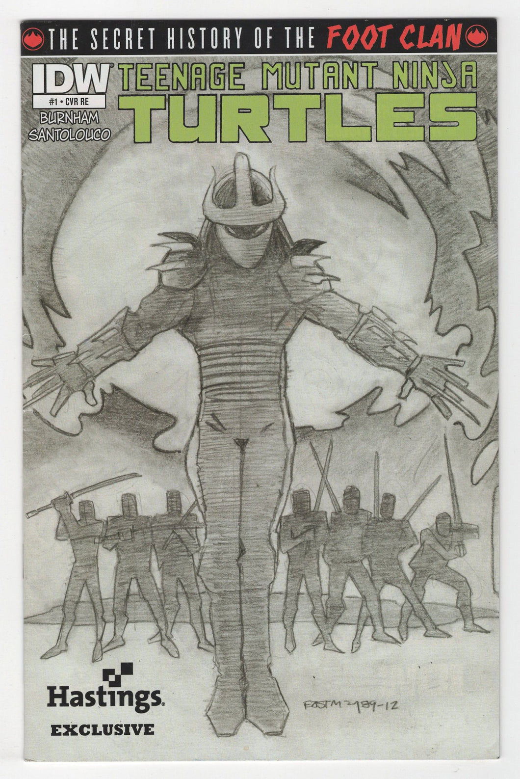Teenage Mutant Ninja Turtles Secret History of the Foot Clan #1 Variant Cover Front