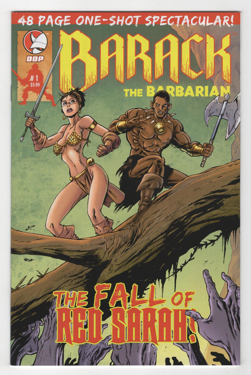Barack the Barbarian Fall of Red Sarah One Shot Cover Front