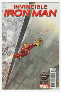 Invincible Iron Man #1 GameStop Variant Cover Front